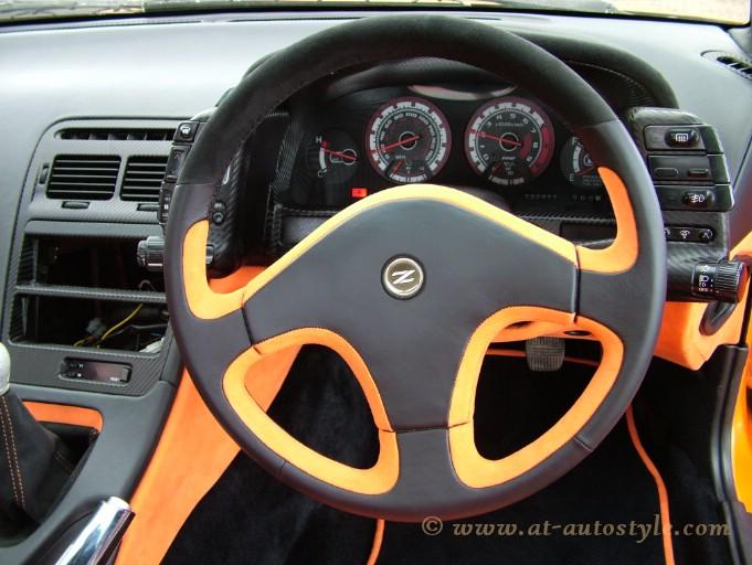 nissan 300z custom design steering wheel a t autostyle. Black Bedroom Furniture Sets. Home Design Ideas