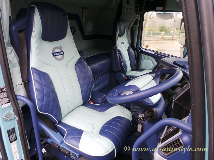 Volvo FH-12 custom design leather interior | A&T Autostyle