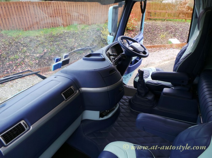 volvo fh12 custom design leather interior aampt autostyle