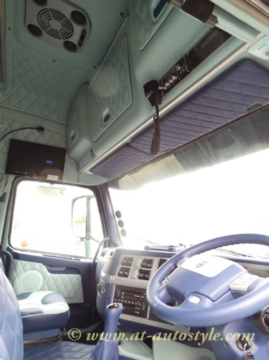 volvo fh 12 custom design leather interior a t autostyle. Black Bedroom Furniture Sets. Home Design Ideas